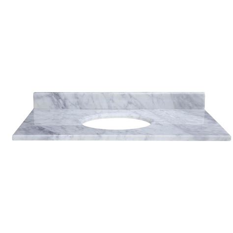 us marble 49 in cultured granite vanity top in white