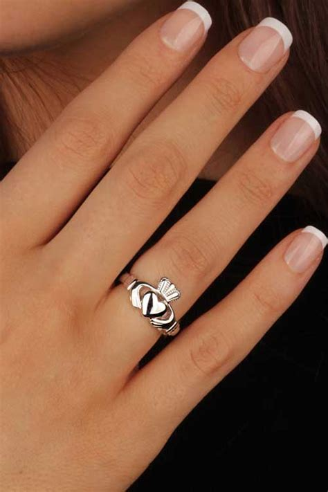 claddagh ring sl92 ladies sterling silver made in ireland