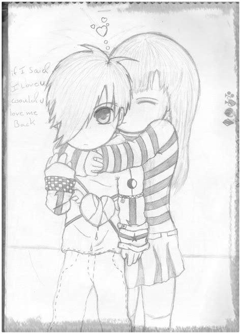 Imagenes Para Dibujar A Lapiz De Anime Amor | dibujos de amor de parejas anime a l 225 piz archivos