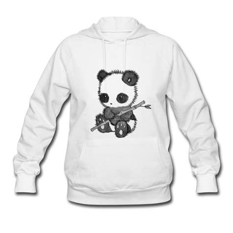 Jaket Hodie Footpint Panda adorable baby panda hoodie spreadshirt
