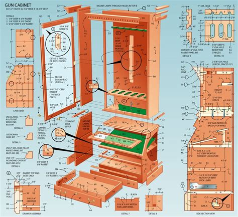 free blueprints pdf plans free gun cabinet designs download fine