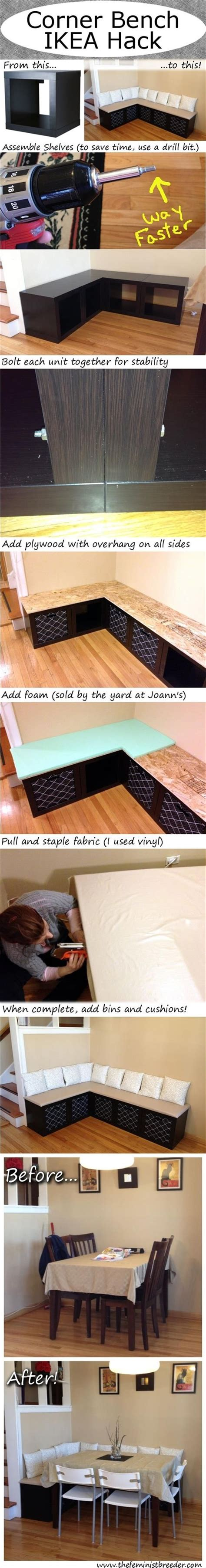 ikea corner bench diy ikea corner bench tutorial pictures photos and images for facebook tumblr