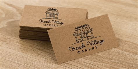 Craft Paper Printing - brown kraft paper business cards