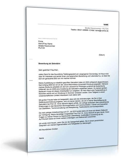 Anschreiben Muster Sekretarin Bewerbungsschreiben Muster Bewerbungsschreiben Sekret 228 Rin