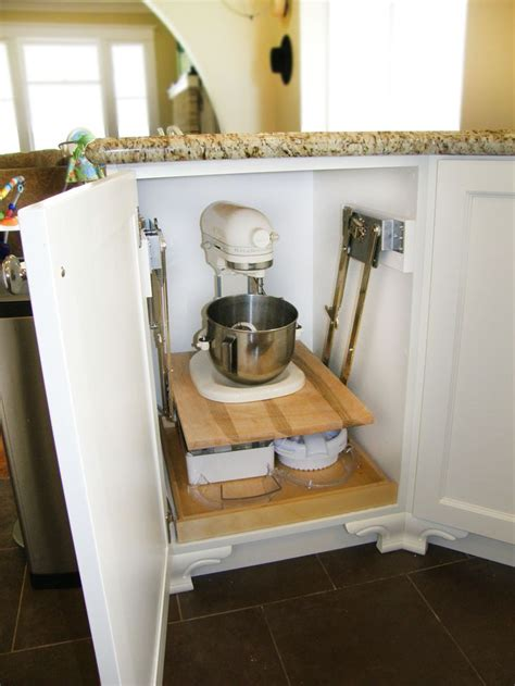 mixer appliance lift mechanism kitchen cabinets