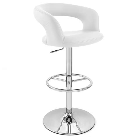 monza bar stool white monza adjustable height swivel armless bar stool