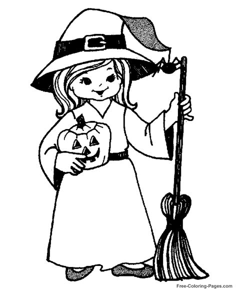 witch costume halloween coloring page halloween coloring pages little witch