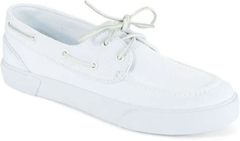 polo boat shoes white polo ralph lauren sander boat shoes in white for men pure
