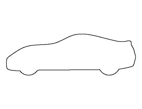 template for a car sports car pattern use the printable outline for crafts