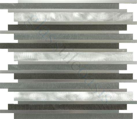 Brushed Aluminum Tile Backsplash by Smoke Random Bricks Grey Backsplash Brushed And Polished