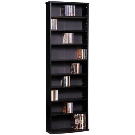dvd storage tower media storage wide media storage tower black finish by ameriwood