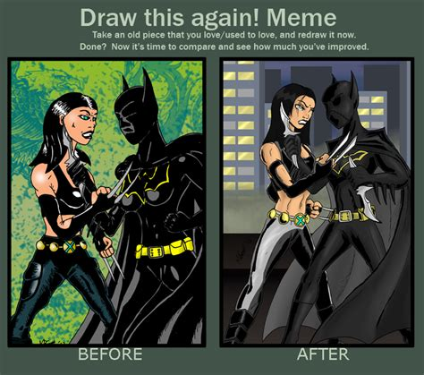 Batgirl Meme - x 23 vs batgirl draw this again by marcussmiter on