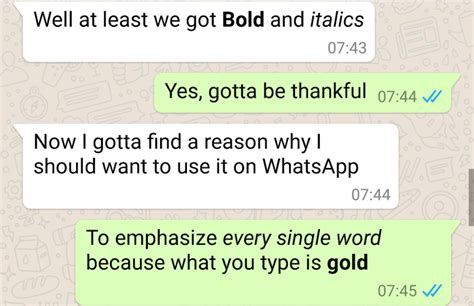 format whatsapp font whatsapp now lets you format text as bold or italic send