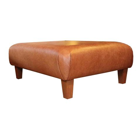 Handmade Footstools - footster footstool in leather 187 handmade footstools 187 settle