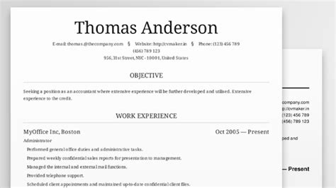Resume Templates Lifehacker Resume Builder Australia Free Excel Templates