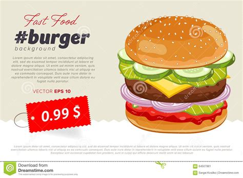 Cheeseburger Sale Banner Template Stock Vector Image 64507961 Food Banner Design Template Free