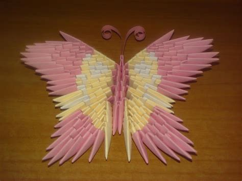 How To Make A 3d Origami Butterfly - origami butterfly 3d easy craft idea