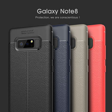 Casing Samsung Galaxy Note 8 Luxury Litchi Leather Softcase Cover bakeey anti fingerprint soft tpu litchi leather cover for samsung galaxy note 8 s8 s8 plus