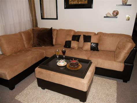 decorating an ottoman with tray decor tips cool corner sectional sofa with ottoman