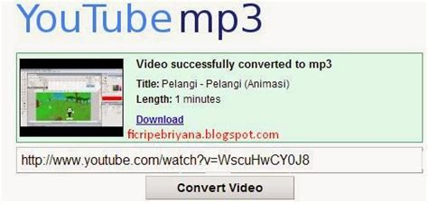 download converter video ke mp3 cara convert video youtube ke mp3 ficri pebriyana