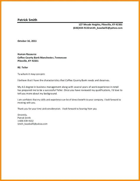to whomever it may concern cover letter to whom it may concern letter format cover letter format
