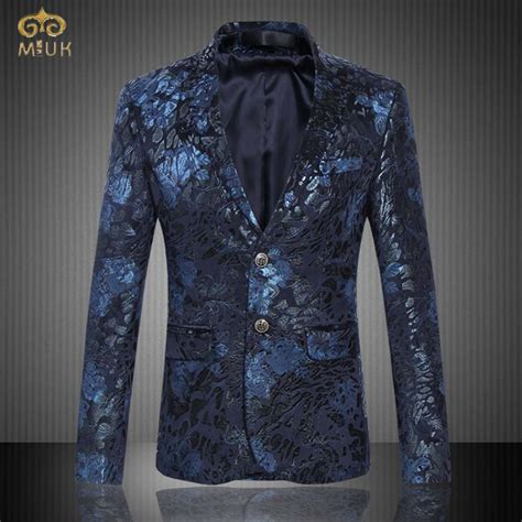 Blazer Style Navy Fit Blazer 82 miuk 2017 large size floral blazer brand clothing 6xl 5xl national style navy wine