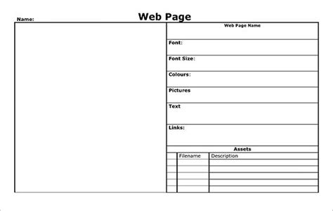 Web Page Template Word Blank Webpage Story Board Template Ms Word Download Templates Collections Word Website Templates Free