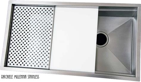 non scratch stainless steel sinks workstation stainless steel sinks with cutting boards