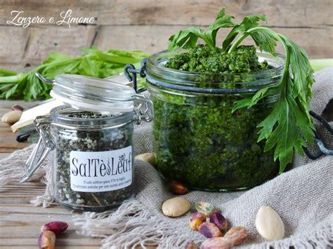 foglie sedano ricette pesto di sedano ricetta preparata con le foglie