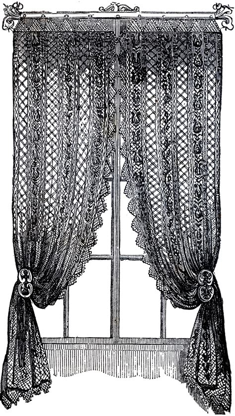 black lace curtains vintage vintage lace curtains clip art the graphics fairy
