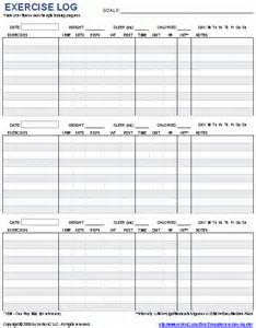 Excel Workout Template by 9 Excel Workout Templates Excel Templates