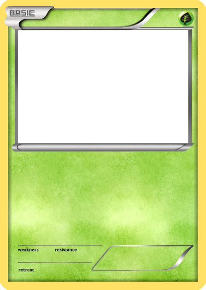 bw grass basic pokemon card blank by the ketchi on deviantart