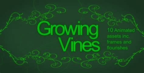 Growing Vine Asset Pack Hd By Greatone Videohive Growing Vines After Effects Template