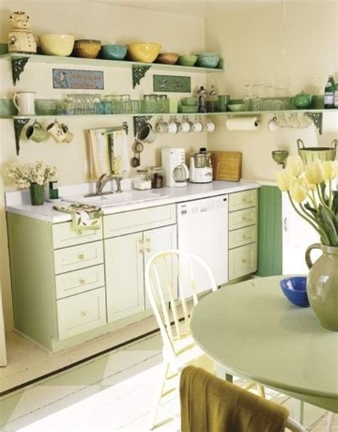 kitchens with shelves green cheerful summer interiors 50 green and yellow kitchen