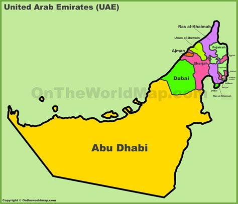 united arab emirates map administrative divisions map of uae