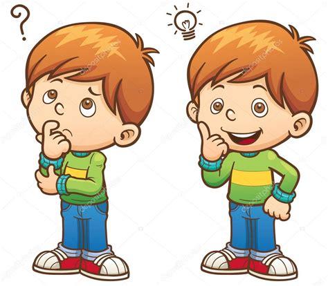 imagenes niños pensando animadas ni 241 o de dibujos animados pensando archivo im 225 genes