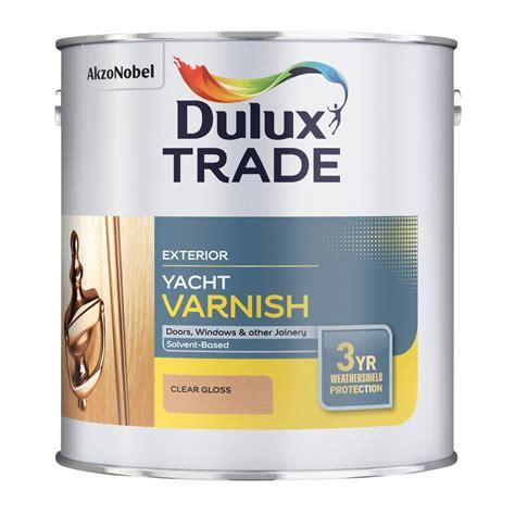 yacht varnish b q dulux trade clear gloss yacht varnish 1000ml tin