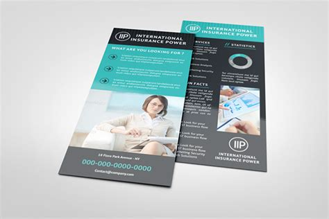 rack card template for openoffice business rack card template on behance