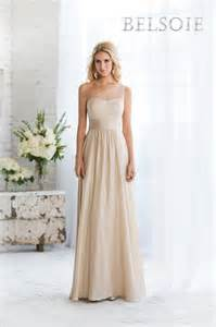 chagne color wedding dresses belsoie bridesmaid dresses style l164056