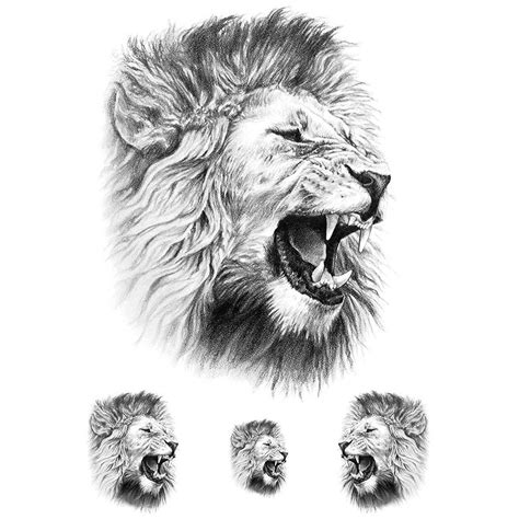 100 tattoos of lions roaring ultra realistic temporary tattoos for and