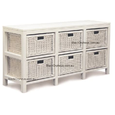white rattan chest of drawers rattan chest 6 drawers white black orpheus