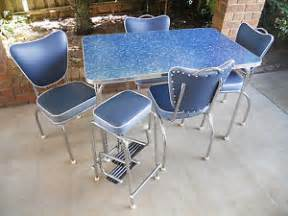 50s Kitchen Table And Chairs Retro 50s Kitchen Laminex Chrome Table Chairs Stool Restored Formica Setting Ebay