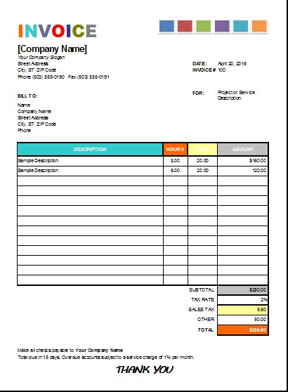 Pin By Alizbath Adam On Microsoft Excel Invoices Pinterest Invoice Template Invoice Sle Painting Invoice Template