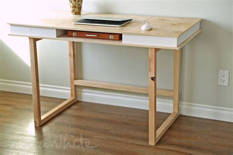 diy desk design white modern 2x2 desk base for build your own study