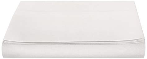 Amazonbasics Drap Plat amazonbasics drap en polycoton 200 fils blanc 280 x 320 10 cm int 233 rieur maison