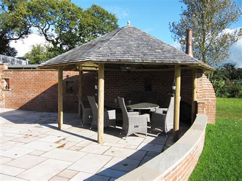 House Style And Design summerhouses cheshire open gazebo style with fire