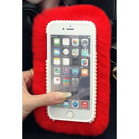 Softcase Rabbit Fur Series Iphone 6 6s 1 bling rhinestone soft rex rabbit fur fuzzy for iphone 6 plus 6s plus 5 5inch chicleader