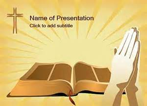 Free Bible Powerpoint Templates by Bible And Cross Template For Presentations Of Powerpoint