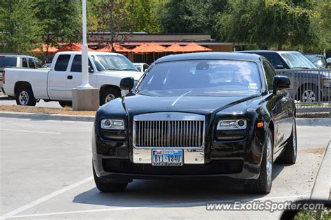 rolls royce ghost spotted in dallas on 08 18 2013