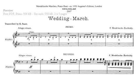 Wedding Song Piano Notes by Piano Four Sheet Free Classical Piano